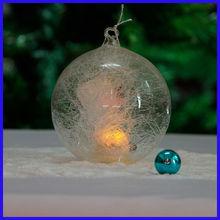 Beautiful Clear Amazing Spun Glass Ball Sets with Led Light