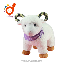 Cute sheep plush toy stuffed animal with 3D eyes soft toys small free sample 2015