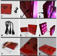 high lumen 500w adjustable full spectrum IR,UV,red,blue led grow light with 3w epistar chip for hydroponic system