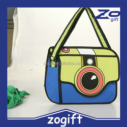 ZOGIFT Jump Style 2D Drawing Paper Bag Comic 3D Camera bag Wholesale