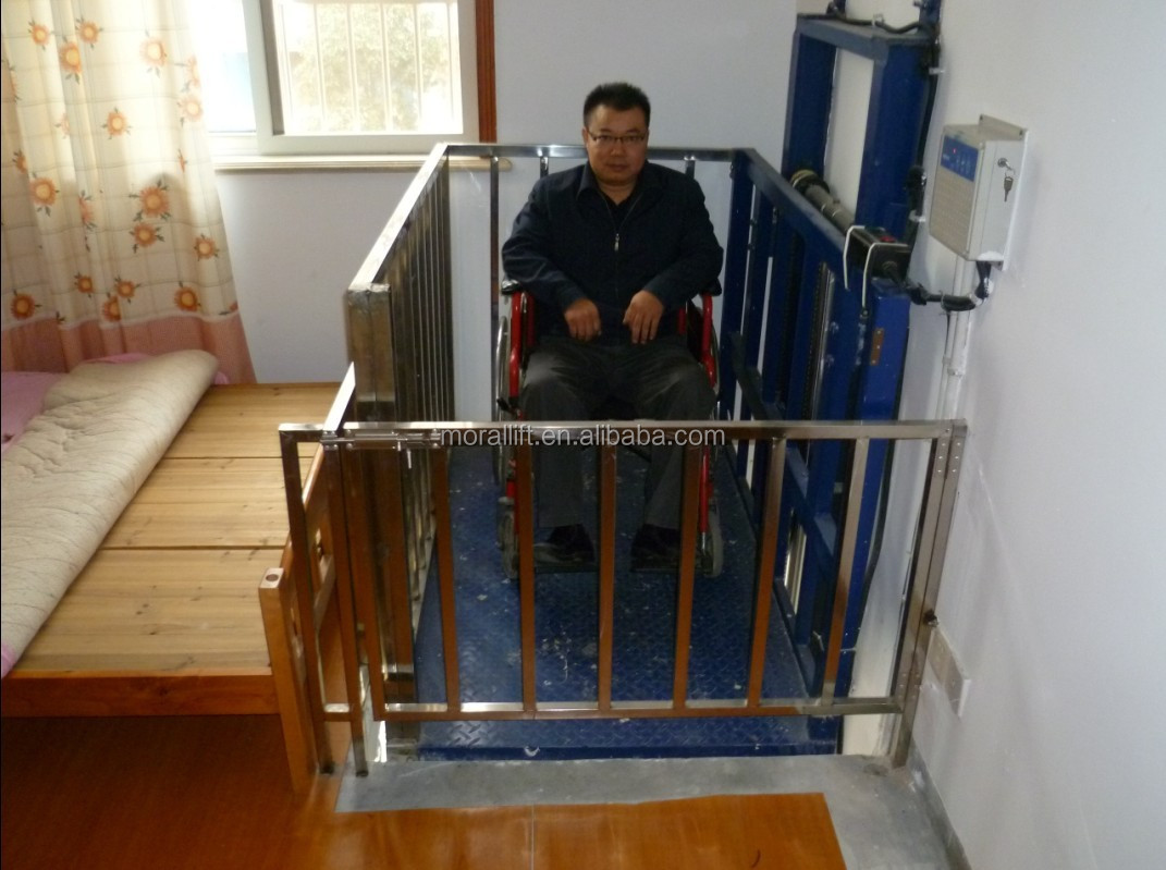 Cheap Hydraulic Home Wheelchair Lift For Old People View