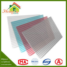 Good performance anti-aging double wall tinted plastic roof