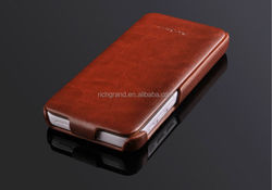 Vertical Smart Luxury Genuine Flip Leather Cover Hard Case For IPHONE 5 5S 5C