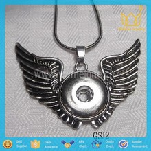 Angel Wings Snap Necklace Jewelry brand names like Ginger snaps fit on pendants