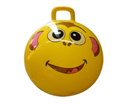 "OTLOR Blue Funny face Large 24"" SPACE HOPPER Jump Bounce Adults Kids Kangaroo Ball"
