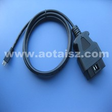 J1962 obd2 diagnostic cable OBD2 male connector to mini 5pin USB