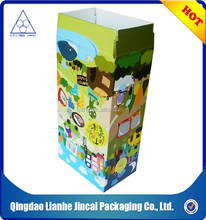 customized color paper foldable box for cosmetic/gift/clothing