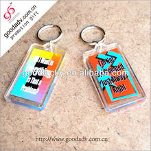Novelty wide varieties transparent printed acrylic keychain