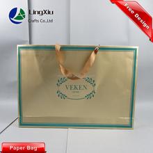 High quality reusable custom shopping paper bag