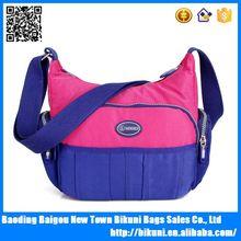 2015 wholesales online new colorful ladies waterproof cross body bag nylon cute messenger bags for girls