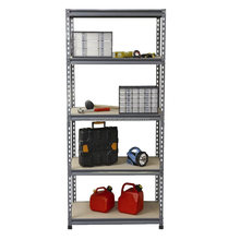 Rivet joint 4 shelves canned goods display rack