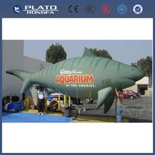 Pvc de gran <span class=keywords><strong>desfile</strong></span> de promoción inflable peces voladores, tiburón inflable gigante