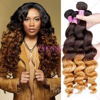 Aliexpress yvonne 5a peruvian human hair two tone braiding hair