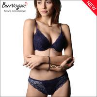 Wholesale women lace underwear white flower push up brassiere women fancy sexy lace bra sets