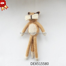 New Fashion Hanging Christmas Animals Ornaments Cheap Price Handmade Felt Christmas Tree Ornaments