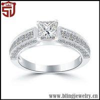 Top Grade Unique Birthday Souvenirs Silver Glans Ring