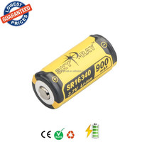 Original SKYRAY SR16340 3.7V 900mAh Lithium Li-ion Rechargeable Protected Durable Battery for Flashlight Device