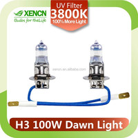 H3 12V 100W 3800K Second Generation Dawn cool white halogen bulb