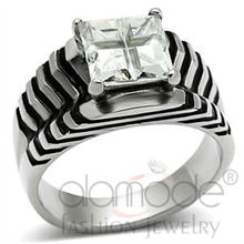 High Quality Stainless Steel CZ Diamond Solitaire Ring