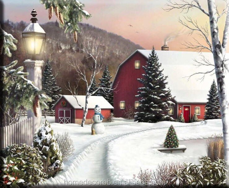 2015 Lastest Cheap Wall Art For Christmas Snow With Led