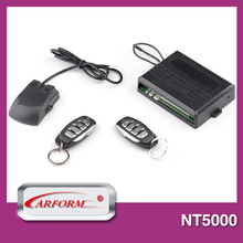 Unique design learning code car alarms electronic security system with ultrasonic sensor and remote start