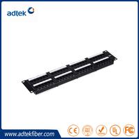"Shenzhen Factory ADTEK 110 IDC 19"" 2U 48 Port UTP Cat6 Patch Panel"