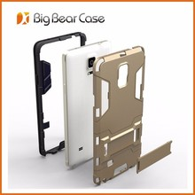 Slim armor case stand cell phone case cover for samsung galaxy note 4 N9100
