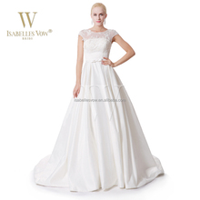 Wholesale alibaba A-line ball gown cap sleeve wedding dresses for big women