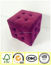 2015 Fancy Cube Ottoman, small comfortable Stool, fabric cube ottoman