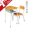School classroom individual desks and chair / middle school desk and chair