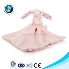 EN71 standard Soft comfortable animal head baby bath towel popular baby sleeping toy bamboo baby towel