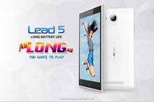 "Leagoo Lead 5 5.0"" IPS Android 4.4.2 MTK6582 Quad Core 8MP 1GB 8GB ROM quad core fashion mobile phone gesture"