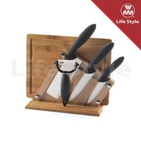 WMM ceramic knife with block and peeler