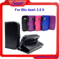 High quality factory price case for Blu dash 3.5 II,crazy horse wallet leather case with card slot for Blu dash 3.5 II