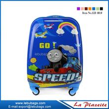 Fancy children travel trolley luggage bag, cute children cartoon luggage