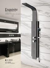5 years guarantee black polish aluminum bath shower screen (K6003)