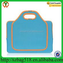 blue tote style custom printed neoprene laptop sleeve wholesale