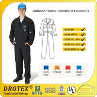 6 oz Light weight Unlined Coveralls -aramid Fireproof coverall