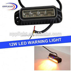 Mini motorcycle warning light 12w warning lightbars ip68 led flashing warning light magnetic