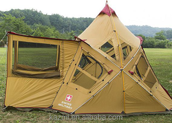 Korean Style Conical Camping Tent Big Family dome/camping/folding tent