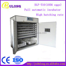 1056 chicken eggs CE approved fully automatic industrial egg incubator price DLF-T10