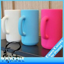Silicone Mug Cup cover for iphone 4/4s stand,4G230