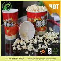 Snack food paper popcorn tin bucket