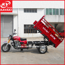 China Used Motorized Three Wheel Motorcycle Bike For Cargo Transport Delivery