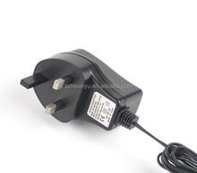certificated uk plug type ac dc adapter 9v 500ma