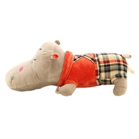 custom make carton character plush toy, cartoon character hippo