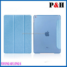 Factory direct sale manufacture fashion design flip leather cover case for ipad air 2,tablet cover for ipad air 2 leather case