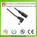 De alta calidad y precio de fábrica 5.5*2.1mm macho a hembra cable de cc