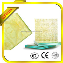 factory safety color printing table top glass with CE/CCC/SGS/ISO