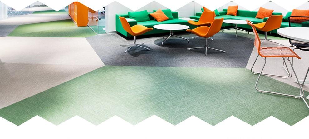 Woven floor tiles